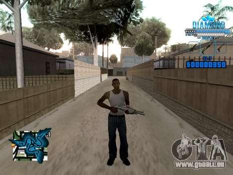 C-HUD Blek-Pro Diamond pour GTA San Andreas troisième écran
