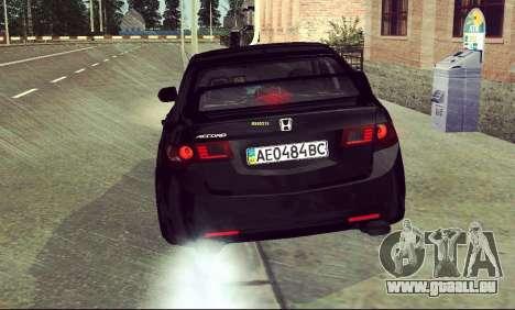 Honda Accord Type S 2008 LT für GTA San Andreas Seitenansicht