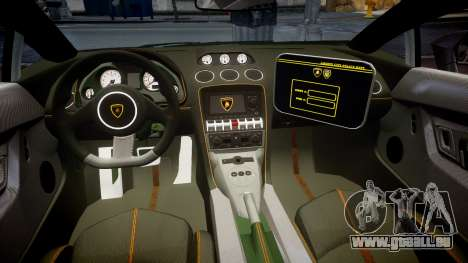 Lamborghini Gallardo LP570-4 LCPD [ELS] pour GTA 4 Vue arrière