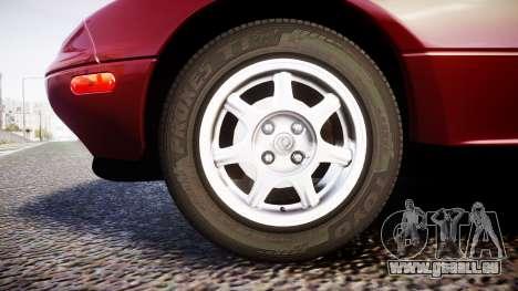 Mazda MX-5 Miata NA 1994 [EPM] pour GTA 4 Vue arrière
