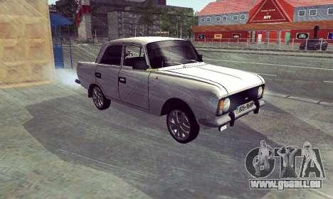 Moskvitch 412 Blanc Hirondelle pour GTA San Andreas sur la vue arrière gauche