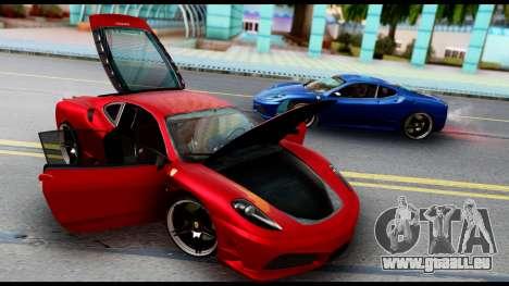 Ferrari F430 Scuderia für GTA San Andreas Innenansicht