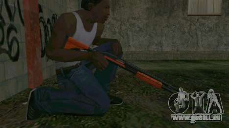 Orange Shotgun für GTA San Andreas her Screenshot