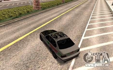 BMW M3 E36 VCDT pour GTA San Andreas vue de droite