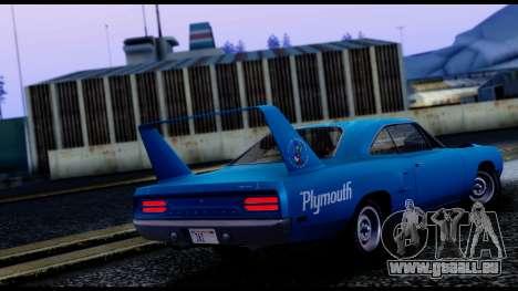 Plymouth Roadrunner Superbird RM23 1970 IVF für GTA San Andreas zurück linke Ansicht