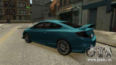 Honda Civic Si 2013 v1.0 pour GTA 4 est un droit