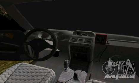 Mitsubishi Pajero Off-Road pour GTA San Andreas vue de dessus
