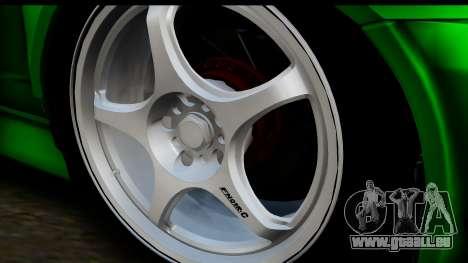 Honda Integra Type R Time Attack IVF pour GTA San Andreas sur la vue arrière gauche