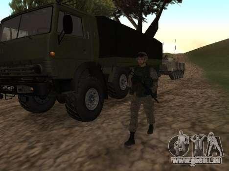 Les soldats de l'armée russe dans la tenue du Gu pour GTA San Andreas