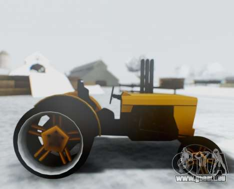 Tractor Kor4 pour GTA San Andreas sur la vue arrière gauche