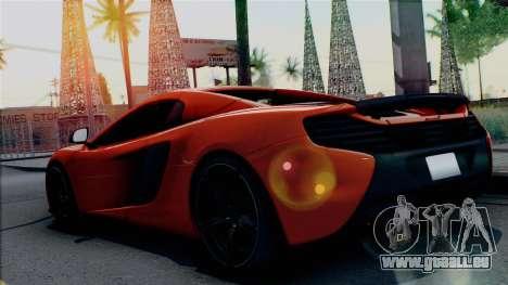 McLaren 650S Spider 2014 pour GTA San Andreas laissé vue