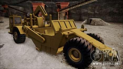 Caterpillar 631D pour GTA San Andreas sur la vue arrière gauche