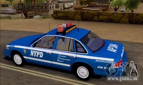 Ford Crown Victoria NYPD  Mazarine pour GTA San Andreas