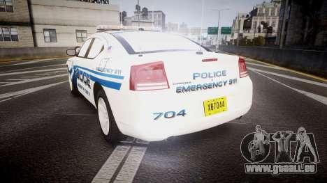 Dodge Charger 2006 LCPD [ELS] pour GTA 4 Vue arrière de la gauche