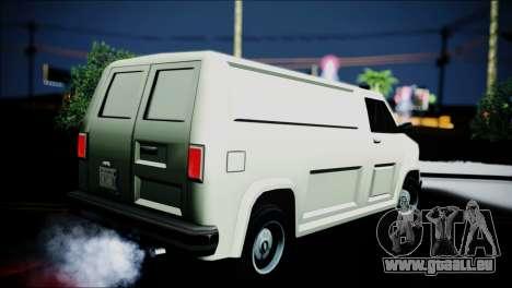 Burrito eXqable Customs pour GTA San Andreas laissé vue