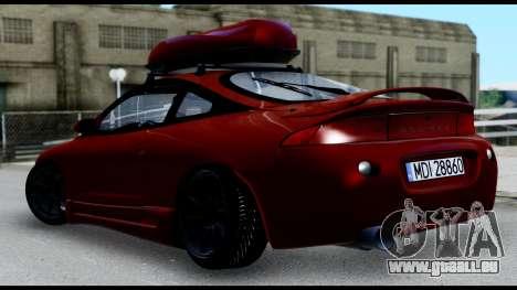 Mitsubishi Eclipce pour GTA San Andreas sur la vue arrière gauche