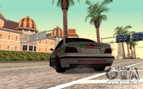 BMW M3 E36 VCDT pour GTA San Andreas sur la vue arrière gauche