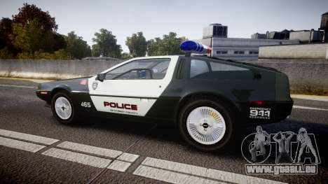 DeLorean DMC-12 [Final] Police für GTA 4 linke Ansicht