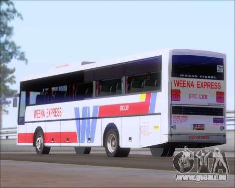 Nissan Diesel UD WEENA EXPRESS ERIC LXV für GTA San Andreas obere Ansicht