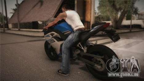 Kawasaki Ninja ZX25R pour GTA San Andreas laissé vue