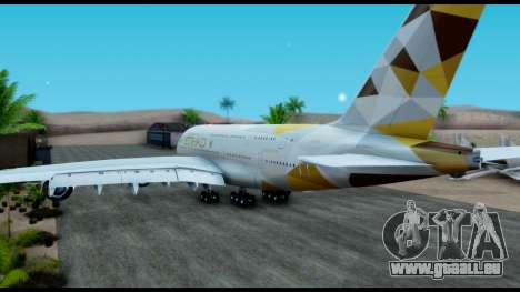 Airbus A380-800 Etihad New Livery für GTA San Andreas linke Ansicht