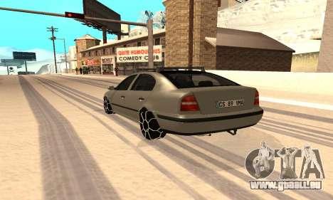 Skoda Octavia Winter Mode für GTA San Andreas linke Ansicht