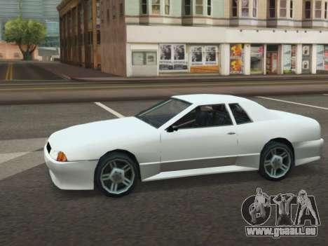 Elegy ODA pour GTA San Andreas sur la vue arrière gauche