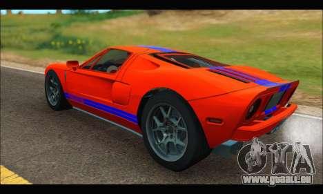 Ford GT 2006 für GTA San Andreas zurück linke Ansicht