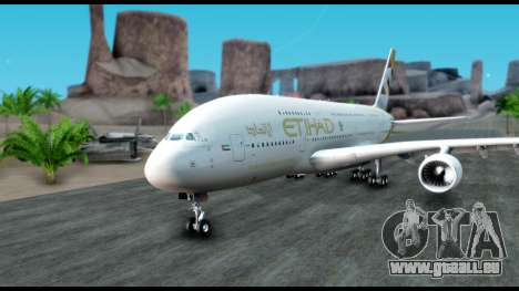 Airbus A380-800 Etihad New Livery pour GTA San Andreas