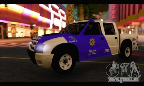 Chevrolet S-10 Policia de Santa Fe für GTA San Andreas zurück linke Ansicht