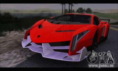 Lamborghini Veneno White-Black 2015 (HQLM) für GTA San Andreas