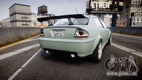 Declasse Premier Sport X pour GTA 4 Vue arrière de la gauche