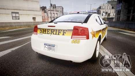 Dodge Charger 2006 Sheriff Liberty [ELS] pour GTA 4 Vue arrière de la gauche