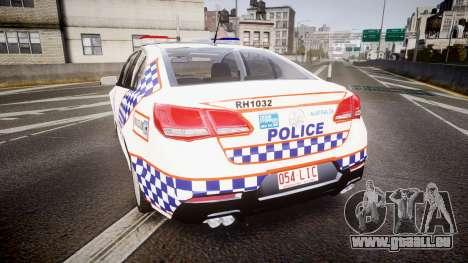 Holden VF Commodore SS Queensland Police [ELS] für GTA 4 hinten links Ansicht