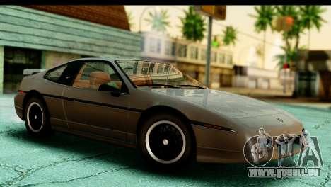 Pontiac Fiero GT G97 1985 HQLM pour GTA San Andreas