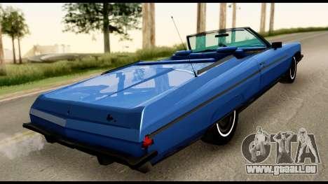 Chevy Caprice 1975 Beta v3 pour GTA San Andreas sur la vue arrière gauche