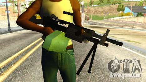 M249 Machine Gun für GTA San Andreas dritten Screenshot