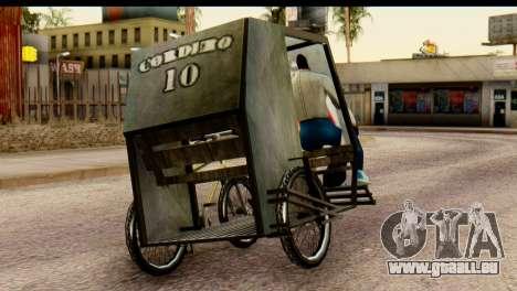 Pedicab Philippines pour GTA San Andreas laissé vue