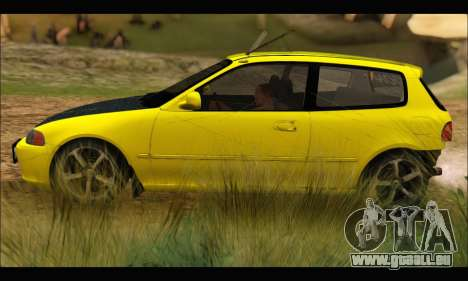 Honda Civic EG6 pour GTA San Andreas laissé vue