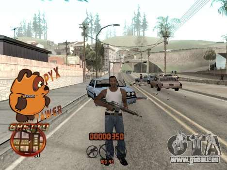 C-HUD PYX TAWER GHETTO für GTA San Andreas zweiten Screenshot