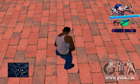 C-HUD Wiz Khalifa für GTA San Andreas zweiten Screenshot