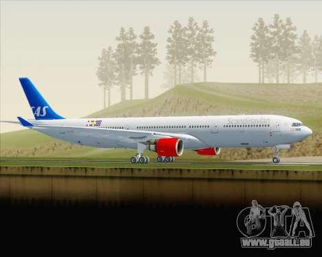 Airbus A330-300 Scandinavian Airlines für GTA San Andreas linke Ansicht