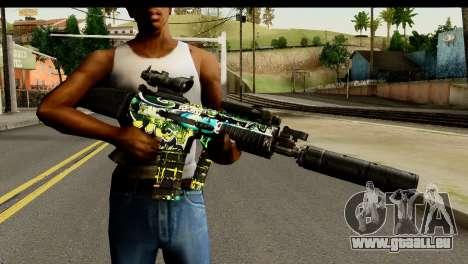 Grafiti M4 pour GTA San Andreas troisième écran