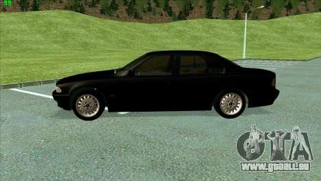 BMW 730i für GTA San Andreas Innenansicht