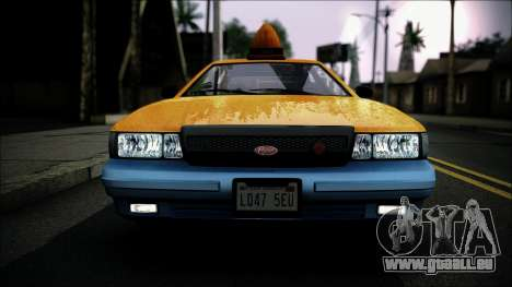 Taxi Vapid Stanier II from GTA 4 IVF pour GTA San Andreas vue de droite