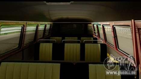 Volkswagen Transporter T1 Stance für GTA San Andreas Rückansicht