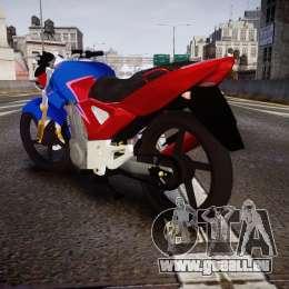 Honda Twister 2014 für GTA 4 hinten links Ansicht