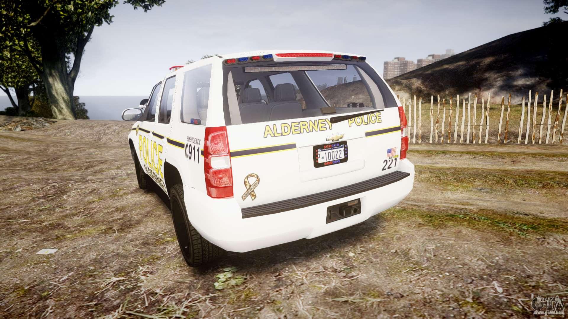 Chevrolet Tahoe 2010 Police Alderney Els Pour Gta 4
