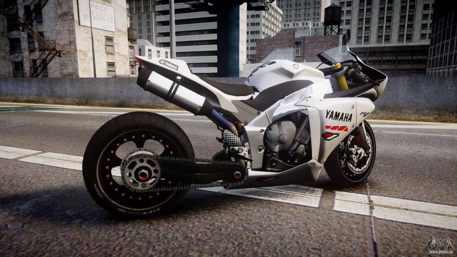 yamaha yzf r1 custom pj1 pour gta 4. Black Bedroom Furniture Sets. Home Design Ideas
