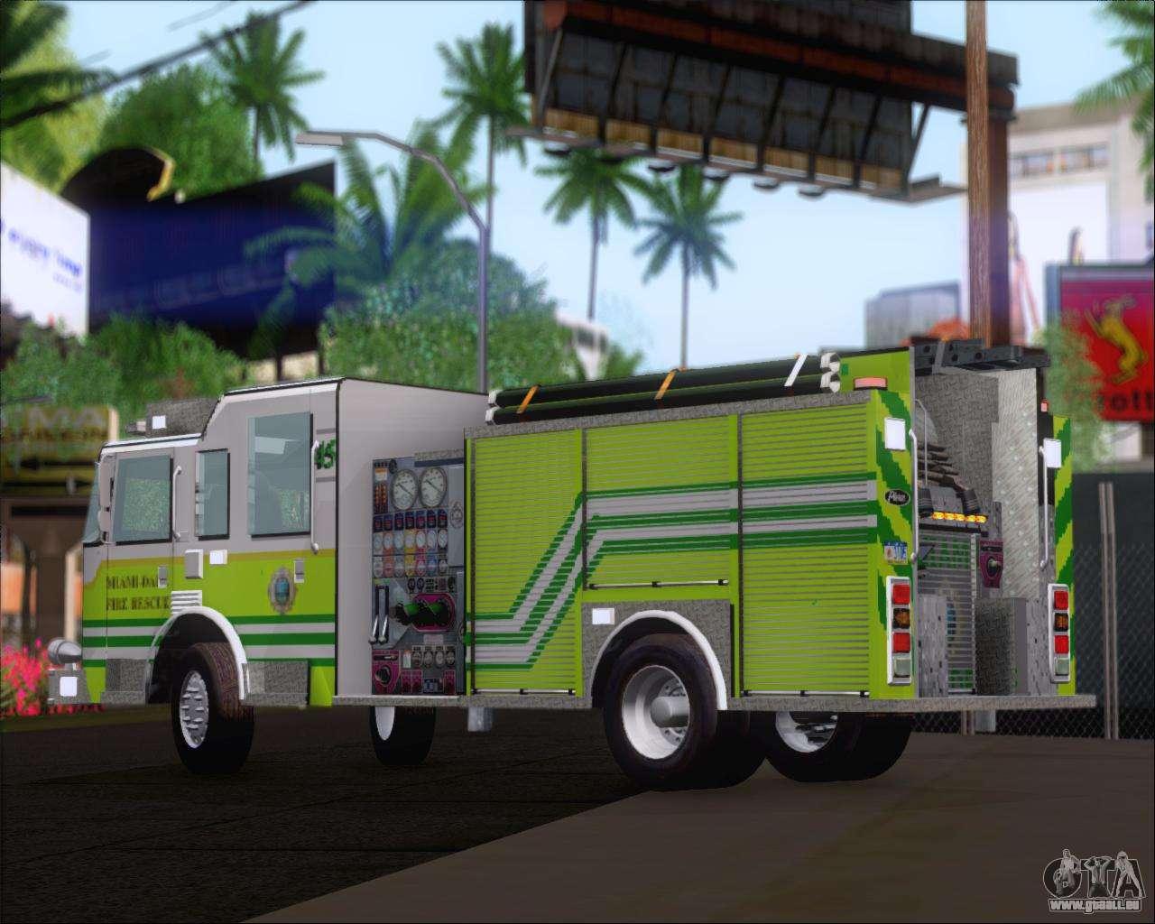 Pierce Arrow Xt Miami Dade Fd Engine 45 F R Gta San Andreas